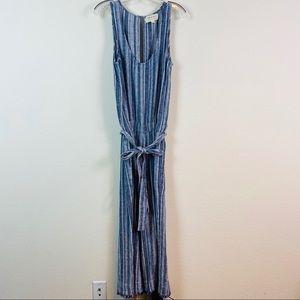 Cloth & Stone Linen Striped Open Back Jumpsuit
